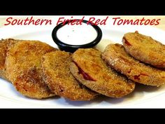 Southern Fried Green Tomatoes are a delicacy in the south, but so are the sweeter and lesser known Southern Fried Red Tomatoes. Fried Red Tomatoes Recipe, Green Tomato Jam Recipe, Fried Tomatoes, Jam Recipes, Snack Recipes, Snacks, Deep Fried Recipes, Fried Peppers, New Cooking