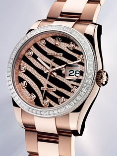 @ROLEX of the week: the new Rolex Datejust in Everose gold @ @Everest1950, official #Rolex retailer #Baselworld2012