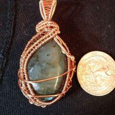 Labradorite #wireweaving #wirewrap #handcrafted #handmade #stones #semiprecious #stonependant #shopsmallbusiness #shoplocal #shopsandsprings just finished!