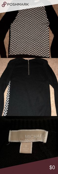 Michael Kors Chevron Sweater Never worn! Thick, comfy sweater. Pairs great with jeans, but can be dressed up as well. 52% cotton, 45% viscose. Machine wash cold. Michael Kors Sweaters Crew & Scoop Necks