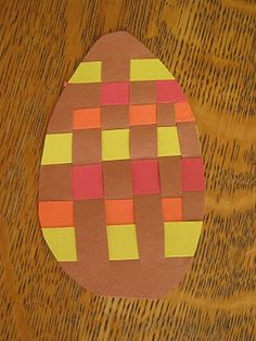 paper weaving for easter- mucho grande paper strips leaft from 100th day!