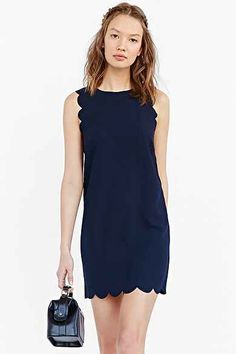 Cooperative Scallop Shift Dress- Navy- Urban Outfitters- $59.00