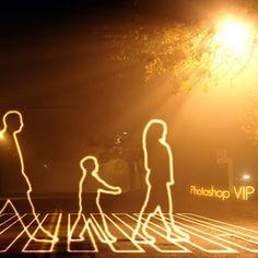 フォトショップでつくる光で描いたような人のデザインの作り方