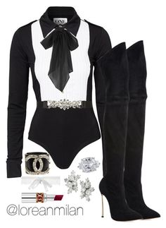 """put on a private show!"" by loreanmilan ❤ liked on Polyvore featuring Casadei, Polo Ralph Lauren, La Perla, City Chic, Harry Winston, Yves Saint Laurent and Chanel"