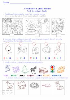 Test de evaluare finală-CLR, clasa pregătitoare - Materiale didactice de 10(zece) Kids Math Worksheets, Preschool Learning Activities, Romanian Language, School Frame, Alphabet Writing, Math For Kids, Kids Education, Classroom, Teaching