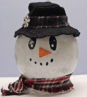 Light-Up Snowman Craft using ivy jars