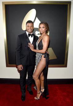 Pin for Later: Les Couples de Célébrités S'affichent Sur le Tapis Rouge des Grammy Awards Ciara et Russell Wilson