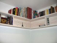 DIY Bookshelves | July 24, 2013 DIY Corner Wall Bookshelves. Knowing the Types of ...