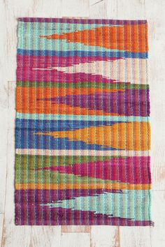 Rainbow Zigzag Rug #urbanoutfitters