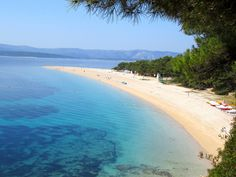 Zlatni Rat beach, close to Bol town on island Brač in Croatia.