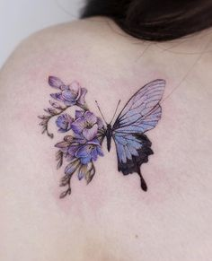 A collection of butterfly tattoo ideas to suit all genders. From delicate small designs to bold black and grey pieces; Hand Tattoos, Cute Tattoos, Unique Tattoos, Body Art Tattoos, Tatoos, Small Pretty Tattoos, Small Colorful Tattoos, Key Tattoos, Skull Tattoos