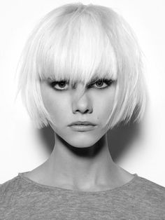 An trendy bob with some fringe is very feminine and classic. Loved by www.chicncheeky.com.au