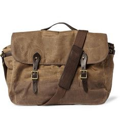 J.CrewAbingdon Waxed Cotton-Canvas Messenger Bag