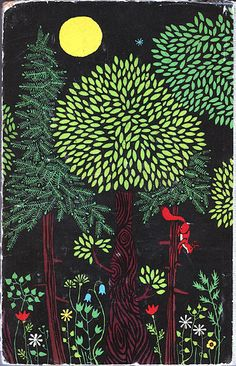 Illustration from back cover of Brothers Grimm. By German illustrator Karl Fischer (b 1921).