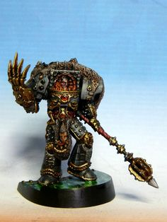 Chaos Space Marines || Primarch Horus the WarMaster during his own heresy, with the Terminator Armour