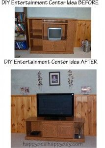 DIY Entertainment Center Ideas – Don't Throw Away The Old One! happydealhappyday.com