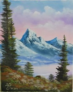 ... have recently joined bob ross s painting classes i have tried my