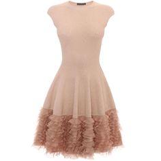 Tonal Lace Knit Ruffle Dress Alexander McQueen | Mini Dress | Dresses |