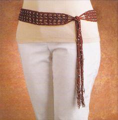 Crochet Beaded Hip Belt by HooksandNeedles, via Flickr
