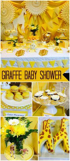 Giraffe / Gender Neutral / Baby Shower Giraffe Baby Shower You're New Baby Shower Giraffe, Baby Shower Yellow, Baby Girl Shower Themes, Baby Yellow, Gender Neutral Baby Shower, Baby Shower Parties, Baby Shower Decorations, My Princess, Diy Zimmer