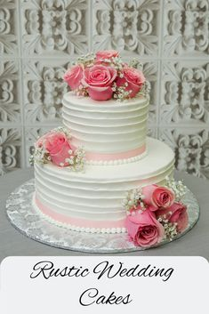 Rustic Wedding Cakes for your Rustic-Chic Weddings! Rustic Wedding Cakes for your Rustic-Chic Floral Wedding Cakes, Wedding Cake Rustic, Wedding Cake Designs, Cake Cookies, Cupcake Cakes, Cake Decorating For Kids, Decorating Ideas, Engagement Cakes, Wedding Cake Decorations