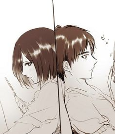 Eren ✿ Mikasa >>Not even in the story. I'm going too far off the point, but I cannot help. THIS IS BEAUTIFUL.