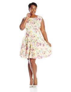 julian taylor women's plus-size sleeveless burnout organza dress