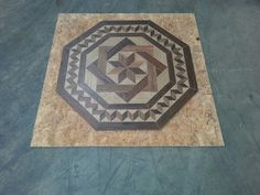 We made this medallion to go with our wood looking tile.  One of our traditional designs