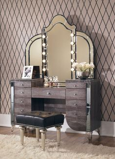 DIY Vanity Mirror With Lights For Bathroom And Makeup Station - Vanity set with lights for bedroom