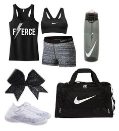 """HS cheer tryouts outfit #2"" by gennaguirre on Polyvore featuring NIKE"