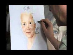 Portrait in soft pastel by Nicky Nikolov -- speed painting, photo reference