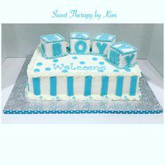 Baby Boy shower Cake #babyshowercake #babyshower #cake
