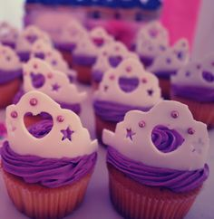 Sofia the first birthday cupcakes