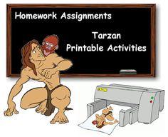 Tarzan Printable Activities