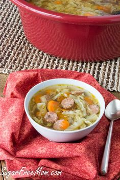 Crock Pot Andouille Sausage Cabbage Soup Recipe {Paleo, Whole30, Gluten-Free, Clean Eating}