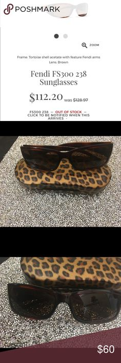 FENDI AUTHENTIC FS300 238 TORTOISE SUNGLASSES A pair of rare long gone authentic FENDI FS 300 238 Tortoise Shell acetate sunglasses's with brown lenses.  These are in amazing condition. Minor scratches on lens and the arms on the temples still show all the data about the glasses.  Not rubbed off as in most cases for vintage FENDI.  This small frame style is heading back into fashion.  See photos listed those are my glasses owned by me.  No case but I will be offering the leopard case with…