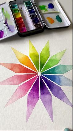 Watercolor Art Lessons, Watercolor Painting Techniques, Painting & Drawing, Kids Watercolor, Watercolor Pencils, Watercolour, Art Drawings Sketches Simple, Easy Drawings, Rainbow Painting