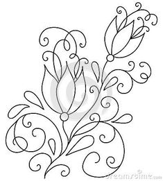 Embroidery Pattern from hand-drawn-abstract-flowers-vector-illustration-design-e… Crewel Embroidery Kits, Embroidery Needles, Hand Embroidery Patterns, Vintage Embroidery, Floral Embroidery, Embroidery Supplies, Machine Embroidery, Modern Embroidery, Brazilian Embroidery