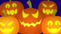 five little pumpkins | scary pumpkins | halloween song | nursery rhymes ...