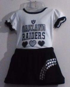NFL Raider Nation FootBall Infant Baby Girl Onesie Skirt Set Size 3-6 Months 51bc3de85