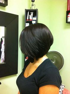 Black Woman with Inverted Bob Hairstyle