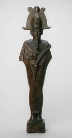 Egyptian  Statuette of Osiris, Saite Period, Dynasty 26 (c. 664–525 B.C.)  Bronze Height: 24.3 cm (9 9/16 in.) (without base)  Gift of Charles L. Hutchinson, Norman W. Harris, and Henry H. Getty, 1892.130