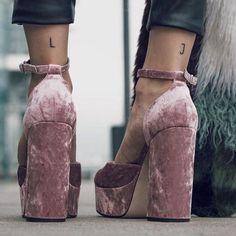 Shoes: tumblr baby pink sandals velvet velvet velvet sandals thick heel block heels ankle strap