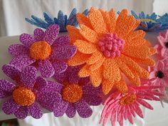 Handmade Foam clay flowers