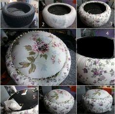 Veja ideias para transformar pneus velhos em soluções criativas