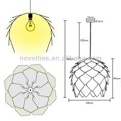 Beautiful Pattern Crimean Pinecone Hanging Lamp Design by Russian Designer