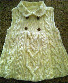 Elizabeth coat size 4T Aran style