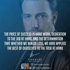 The price of success is hard work, dedication to the job at hand, and the determination that whether we win or lose, we have applied the best of ourselves to the task at hand. #working #founder #startup #buyinghealth #comprandosalud #money #magazine #moneymaker #startuplife #successful #passion #inspiredaily #hardwork #hardworkpaysoff #desire #motivation #motivational #lifestyle #happiness #entrepreneur #entrepreneurs #entrepreneurship #entrepreneurlife #business #businessman #quoteoft..
