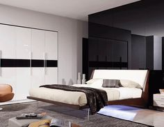 Modern Bedroom Decorating With Floating Bed And Luxury Wardrobe Ideas - http://backgroundwallpaperpics.com/modern-bedroom-decorating-with-floating-bed-and-luxury-wardrobe-ideas/