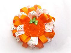 Pumpkin: Halloween is coming and this hair clip is just right for Erin's hair accessories. If I have time I'll try to make it for her